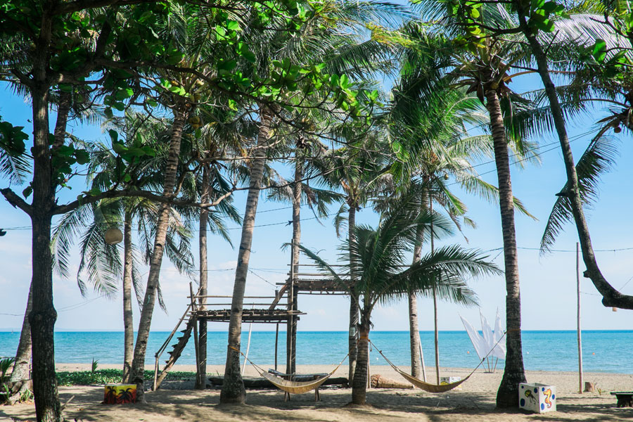 The Family Beach Resort In Southern Coastline Of Iloilo Province Town Tigbauan Gentle Breezes Waft From Across Site